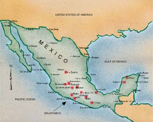 Location of Zihuatanejo in Mexico